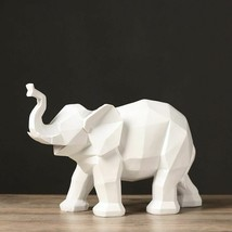 Elephant Figurine Europe Abstract Geometric Craft Statue Home Wine Cabin... - €43,87 EUR