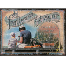 -1444 12X17 RIVERS EDGE A FATHERS PRAYER DURABLE WEATHERPROOF EMBOSSED T... - $21.95