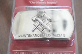 Usn Navy Uss Ship Shore Hull Maintenance Technician Rate Specialty Belt Buckle - $24.70