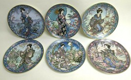 """The Franklin Mint Royal Doulton 6 8"""" Flower Maidens Plates Marty Noble S... - $98.99"""