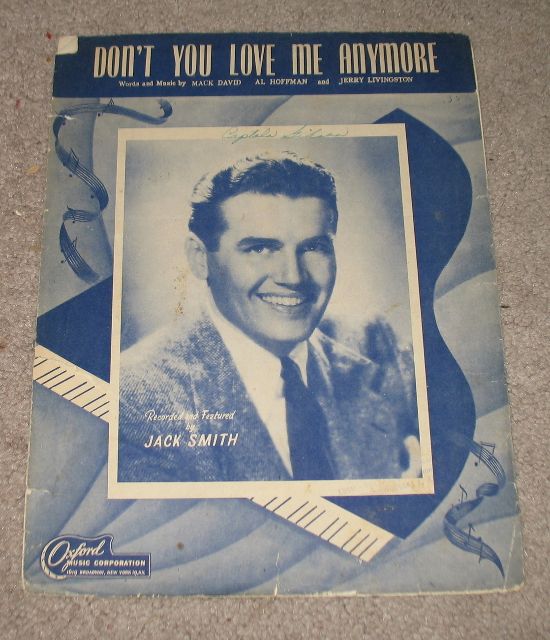 Don't You Love me Anymore Sheet Music 1947
