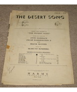 The Desert Song Sheet Music - 1926 - Duet in C - $5.99