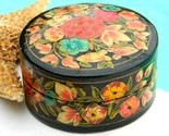 Vintage lacquer trinket box india papier mache art handmade thumb155 crop