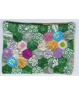 GrandMothers Flower Garden Quilt ACEO Handquilted OOAK - $25.00