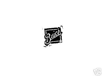 Square Vintage BUICK Car logo Rubber stamp