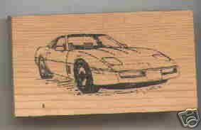 Chevrolet Corvette Car Rubber Stamp #1 Chevy Vette