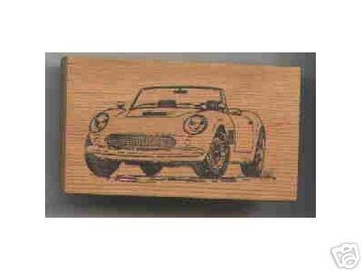 Cobra Sports Car Rubber Stamp Automobile