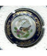 Black capped Chickadee Bird Miniature Franklin Porcelain Plate - $13.00