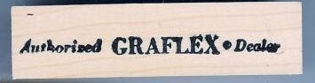 Authorized Graflex Dealer Camera logo Rubber Stamp
