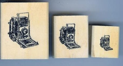 3 Crown Graphic Graflex Top Range Camera Rubber Stamps