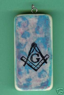 Mason logo Masonic Altered Domino Pendant OOAK