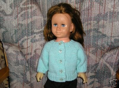 Blue Cardigan Knit Sweater button up American girl
