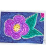 Midnight Flower ACEO Original Hand drawn flower - $10.00