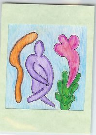 Modern Art Fiqure Tree etc Watercolor OOAK ACEO COA