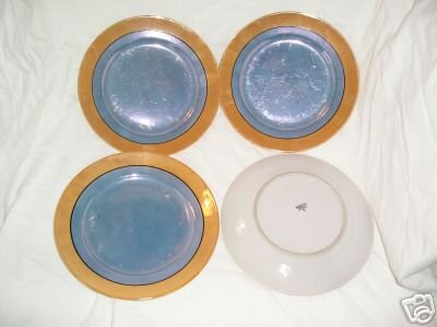 4 Lustre 7 inch Luncheon salad plates MIJ Made in Japan