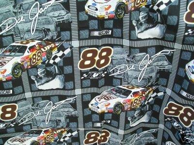 """Dale Jarrett Nascar Fabric 1 Yd 44"""" w 2002 #88 Ford UPS"""