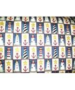 Cape Liberty fabric Deb Strain Moda Lighthouse anchors+ - $9.00