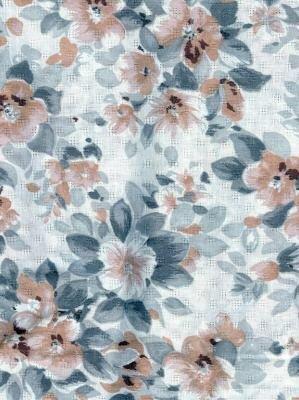 "1 Yard Vintage Cotton Fabric Brown/Grey/Cream 35"" wide"