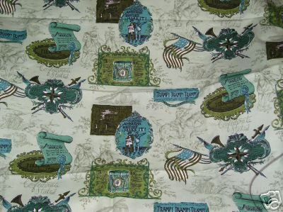 Vintage Patriotic Green Bicentennial ? Fabric 1 yard