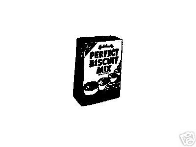 Vintage Perfect Biscuit Mix box Rubber Stamp