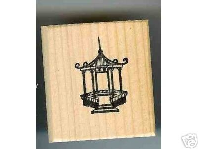 Gazebo rubber stamp fancy outdoor garden building