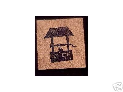 Wishing Well rubber stamp Make a wish