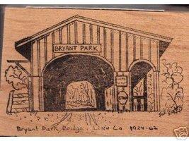 Bryant park Covered Bridge Linn Oregon rubber stamp - $10.00