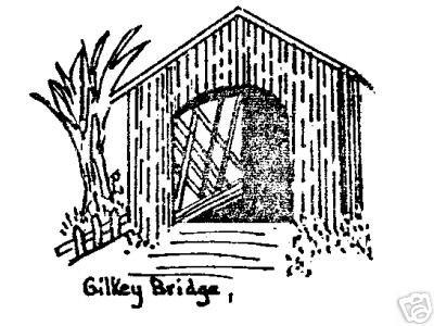Gilkey Covered Bridge Linn Co Oregon rubber stamp