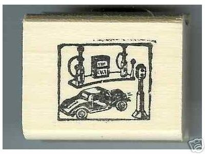 1930's Car Service Station rubber stamp