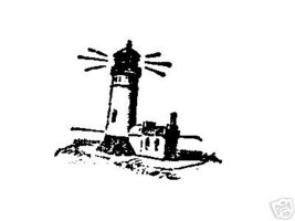 Small Lighthouse rubber stamp light house - $6.00