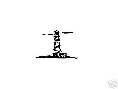 Small Pacific Lighthouse rubber stamp light house