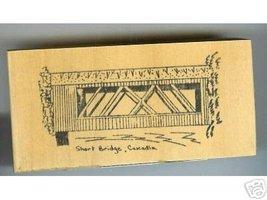 Short Covered Bridge Oregon rubber stamp signed - $8.00