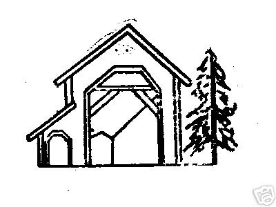 West Fir Office Oregon Covered Bridge rubber stamp sign