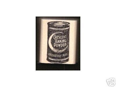 Cresent Baking Powder Vintage Tin rubber stamp