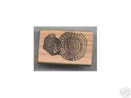 Log Cabin Syrup Tin end of log Rubber Stamp - $8.00