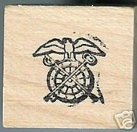 Army Quartermaster Corps Logo Rubber stamp Tiny