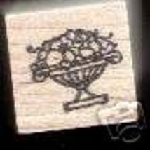 Small Fruit Bowl Basket rubber stamp - $4.00