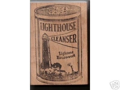 Lighthouse Cleanser rubber stamp light house