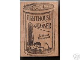 Lighthouse Cleanser rubber stamp light house - $9.00