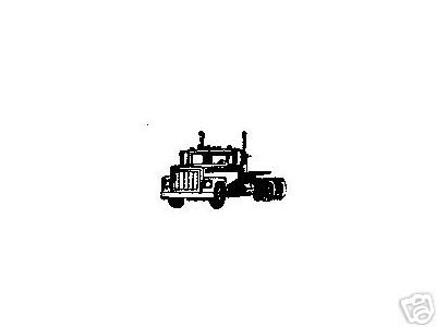 Truck Tractor Cab rubber stamp small