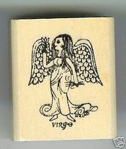 Virgo Zodiac Sign Rubber Stamp 1960's Aug 23 - Sept 22 - $7.00