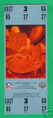 Super Bowl Replica Ticket #25 Giants Bills 1991