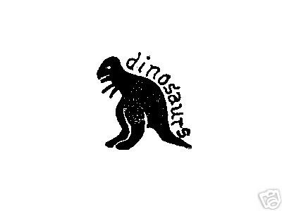 Dinosaurs word Dinosaur Dino Rubber stamp silouette