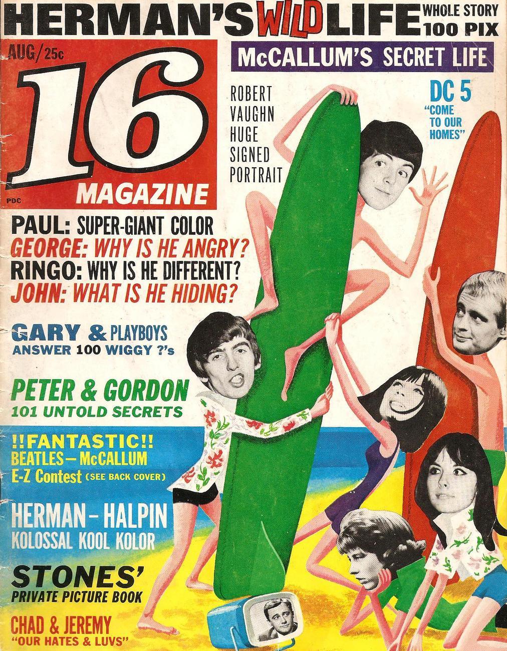 16 Magazine - August 1965 Issue