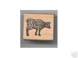 Cow rubber stamp - $6.00