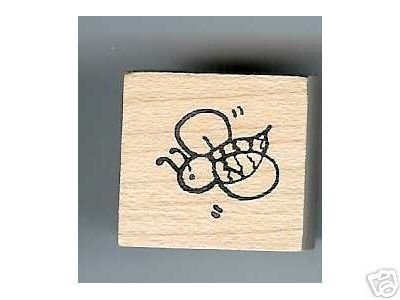 Buzzing Buzy Bee small rubber stamp