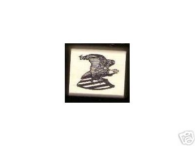 Eagle with Shield Bird med rubber stamp Patriotic