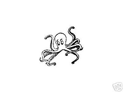OCTOPUS rubber stamp sea creature