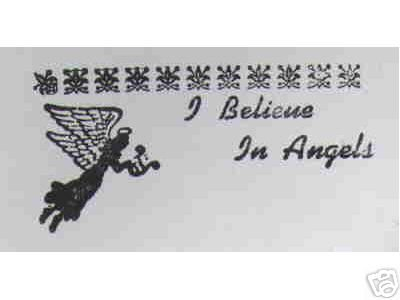 I Believe in Angels Angel rubber stamp