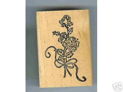 Rose Flower Bouquet tied with ribbon rubber stamp